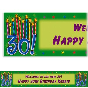 Custom Great Birthday 30th Birthday Banner 6ft