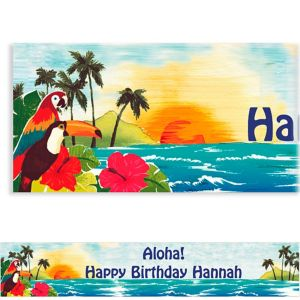 Custom Hawaiian Luau Banner 6ft