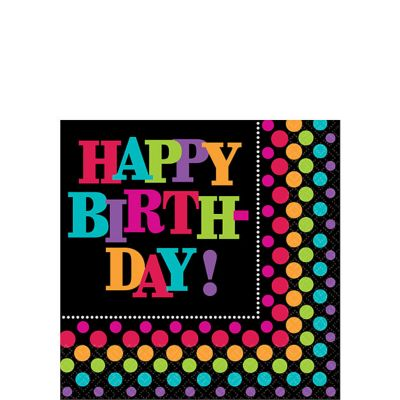 Party On Beverage Napkins 16ct
