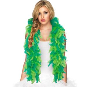 Two-Tone Green Feather Boa