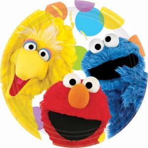 Sesame Street Party Lunch Plates 8ct
