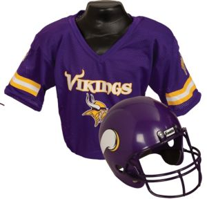 Child Minnesota Vikings Helmet & Jersey Set