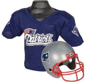 Child New England Patriots Helmet & Jersey Set