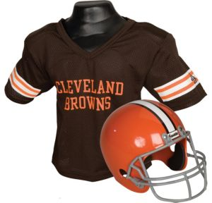 Child Cleveland Browns Helmet & Jersey Set