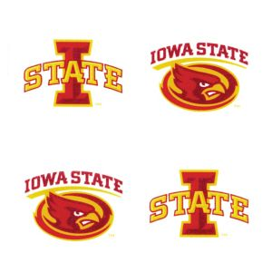Iowa State Cyclones Face Tattoos 4ct