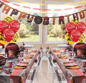 Cars Party Supplies Deluxe Party Kit for 16 Guests