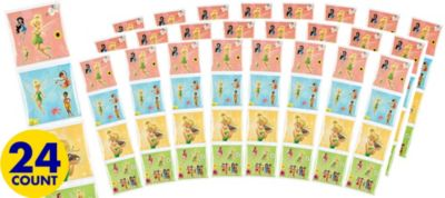 Tinker Bell and The Fairies Sticker Square Packets 24ct