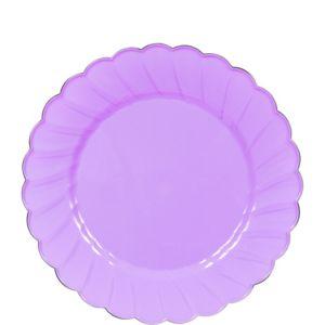 Lilac Scalloped Plastic Dessert Plates 20ct