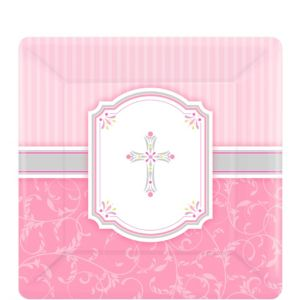 Girl's Communion Blessings Dessert Plates 8ct