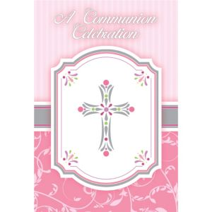 Girl's Communion Blessings Postcard Invitations 20ct