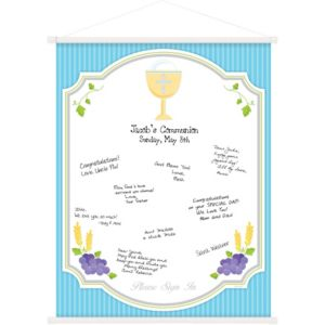 Blue Communion Hanging Sign-In Scroll