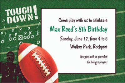 Custom Football Frenzy Invitations