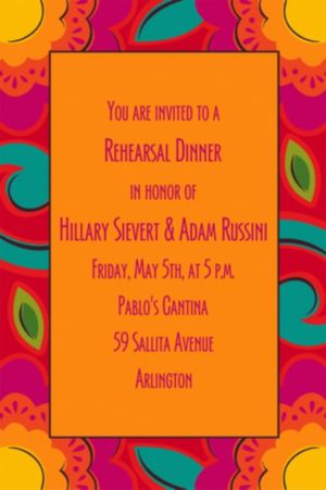 Custom Fiesta Caliente Invitations