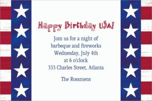 Custom Americana Invitations