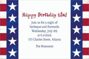 Custom Americana Invitations