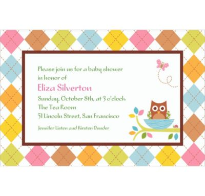 Custom Whoo Loves You Baby Shower Invitations