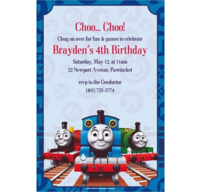 Custom Thomas the Train Invitations
