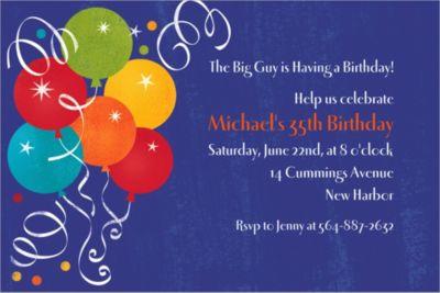 Custom Birthday Fever Invitations