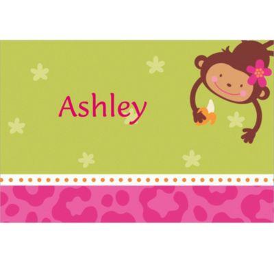 Monkey Love Custom Thank You Note