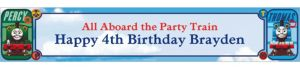 Custom Thomas the Train Banner 6ft