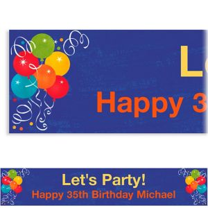 Custom Birthday Fever Banner 6ft