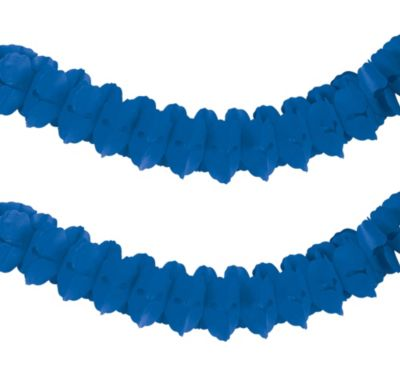 Royal Blue Paper Garland 12ft