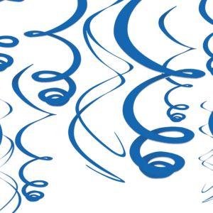 Royal Blue Swirl Decorations 12ct