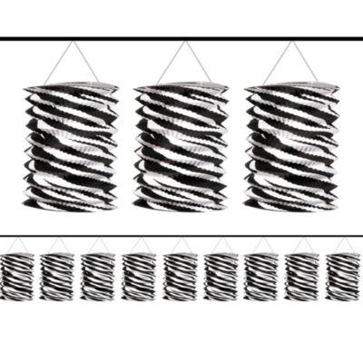 Zebra Print Lantern Garland 12ft