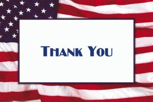 Custom Flying Colors Welcome Home Thank You Notes