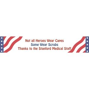 Custom All American Welcome Home Banner 6ft
