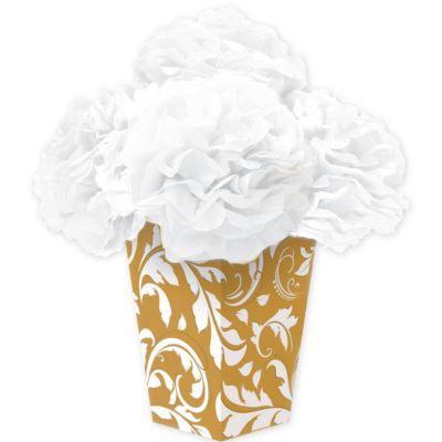Gold Fluffy Flower Centerpiece Kit 6pc
