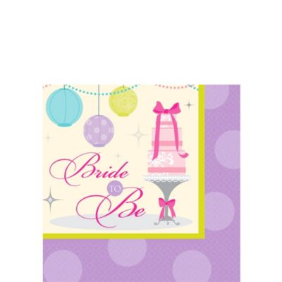 Chic Bride Bridal Shower Beverage Napkins 16ct