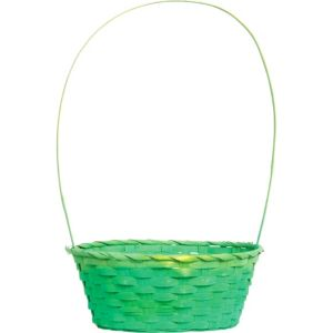 Round Green Bamboo Easter Basket