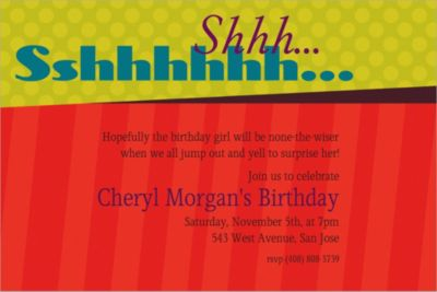 Custom Big Sshhh Surprise Party Invitations