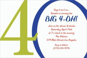 Custom Great Big 40th Invitations