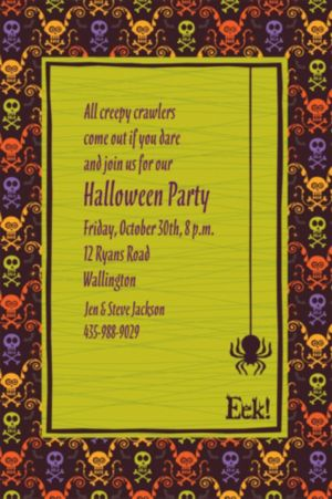 Custom Chills & Thrills Halloween Invitations