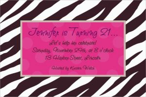 Custom Zebra Party Invitations