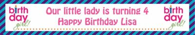 Birthday Girl Text Custom Banner 6ft