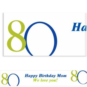 Custom Great Big 80th Banner 6ft