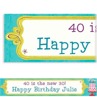 Custom Sweet Stuff Birthday Banner 6ft