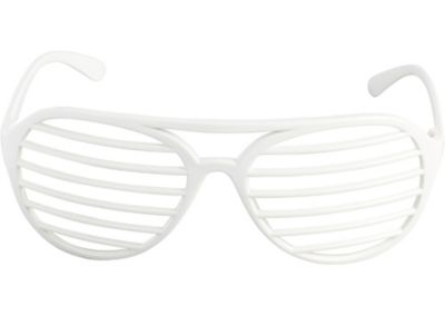 White Slotted Shades