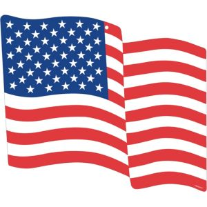American Flag Cutout