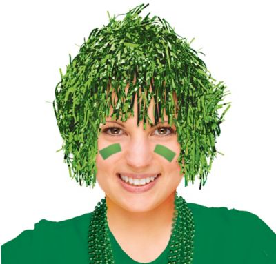 Green Tinsel Wig