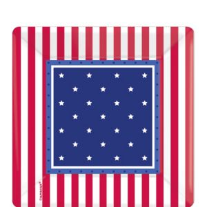 American Classic Patriotic Dessert Plates 8ct