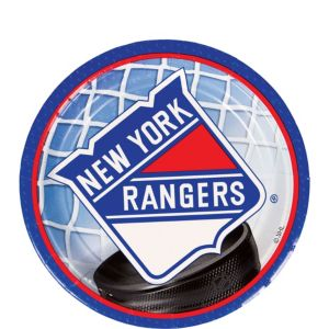New York Rangers Dessert Plates 8ct