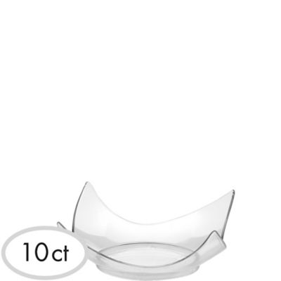 Mini CLEAR Plastic Plates 10ct