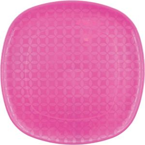 Square Pink Platter 14in