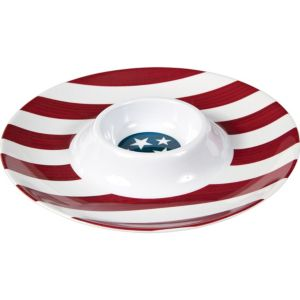 American Flag Chip & Dip Tray