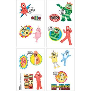 Yo Gabba Gabba! Tattoos 1 Sheet