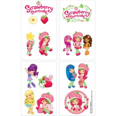 Strawberry Shortcake Tattoos 1 Sheet